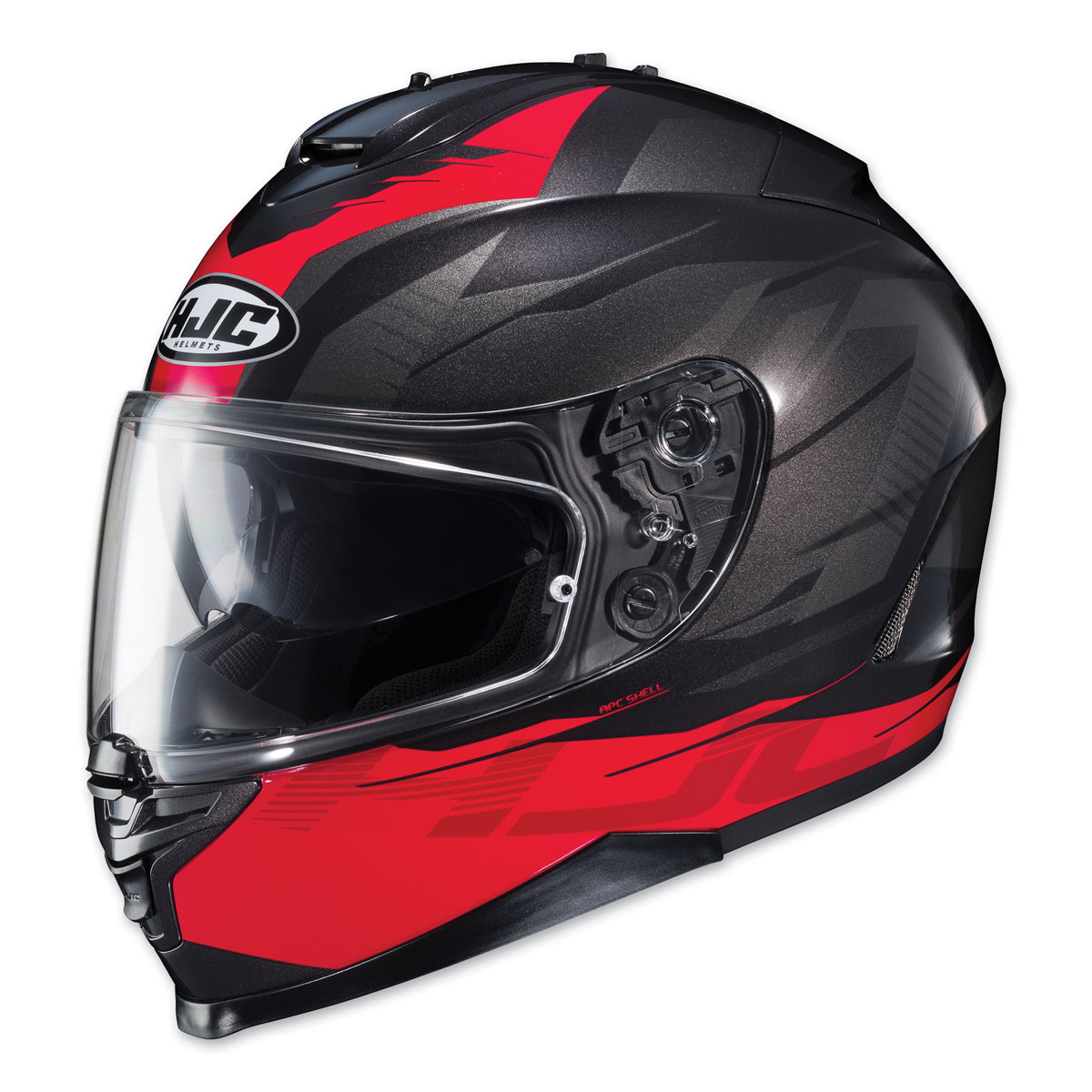 HJC IS-17 Tario Red/Charcoal Full Face Helmet