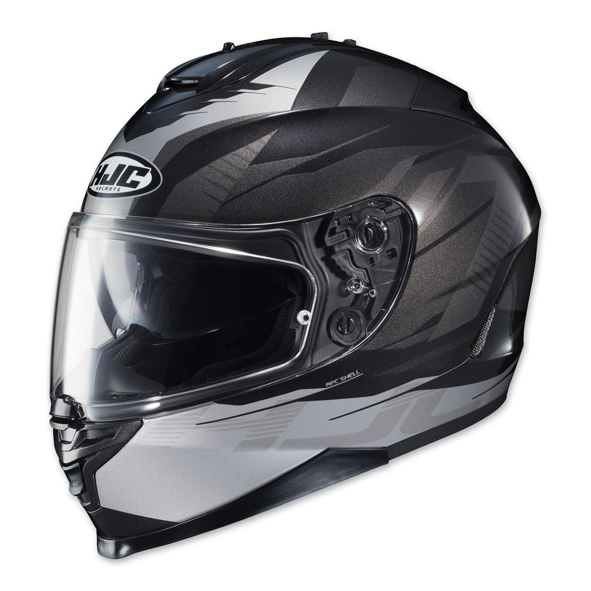 HJC IS-17 Tario Silver/Black Full Face Helmet