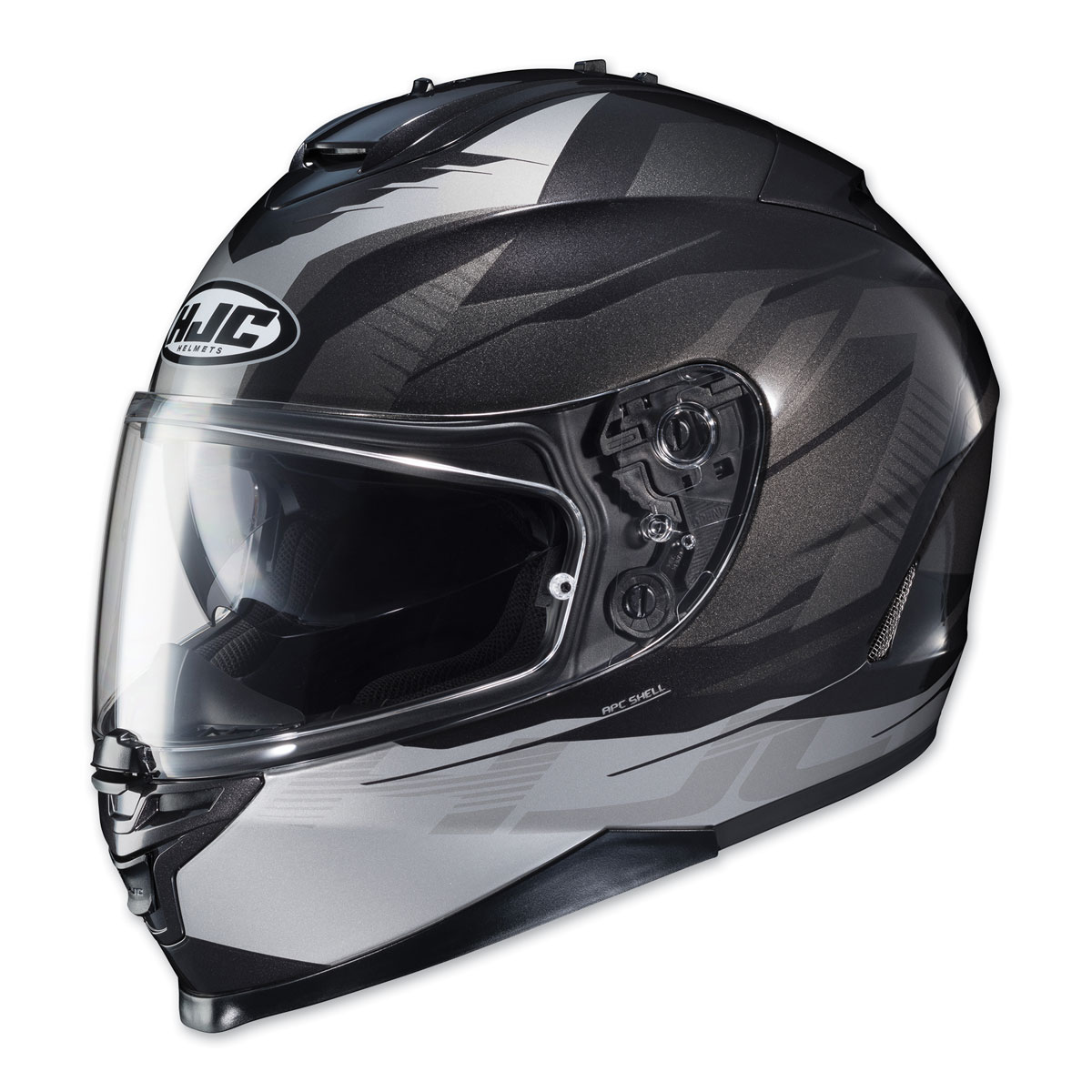 HJC IS-17 Tario Silver/Black Full Face Helmet