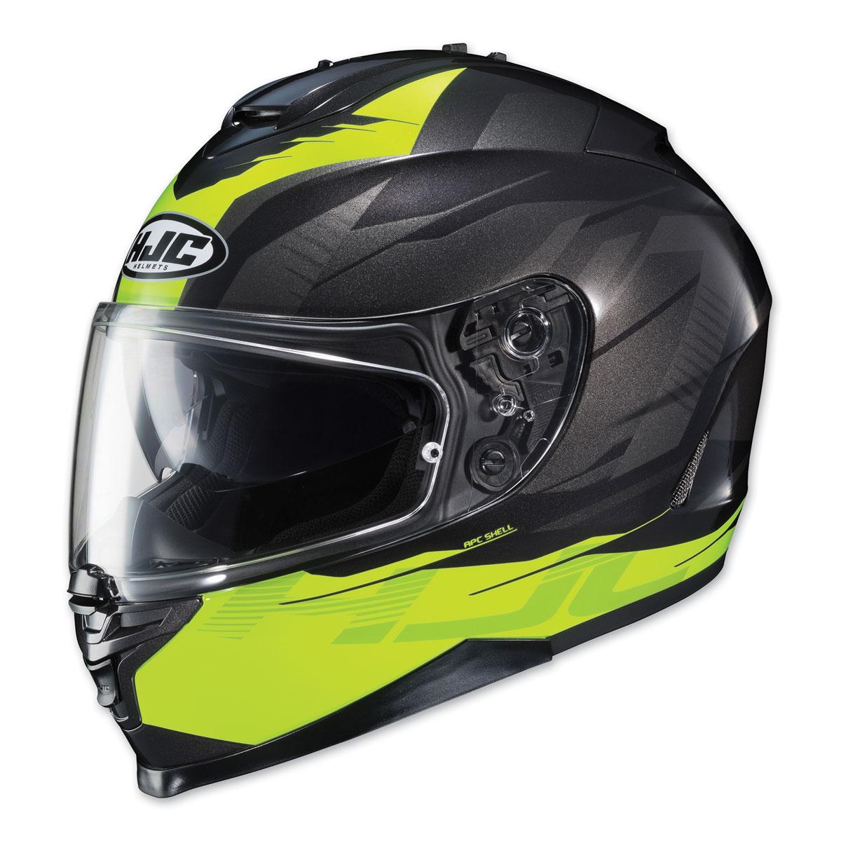 HJC IS-17 Tario Hi-Viz/Black Full Face Helmet