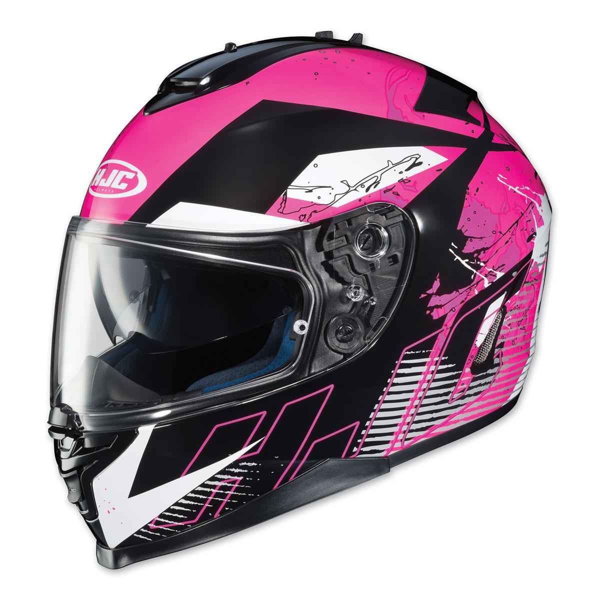 HJC IS-17 Blur Black/Pink Full Face Helmet