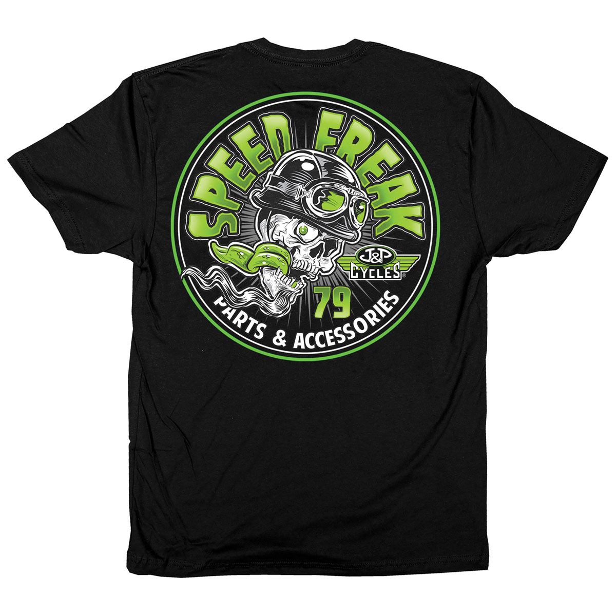 J&P Cycles Men's Speed Freak Black T-Shirt