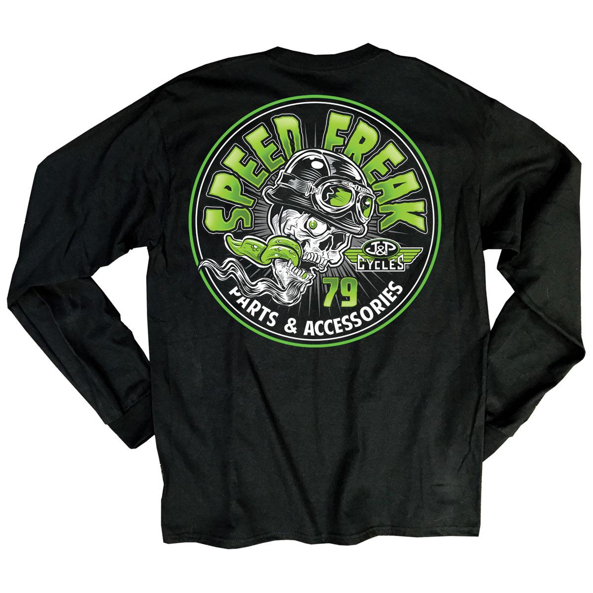 J&P Cycles Men's Speed Freak Black Long-Sleeve T-Shirt