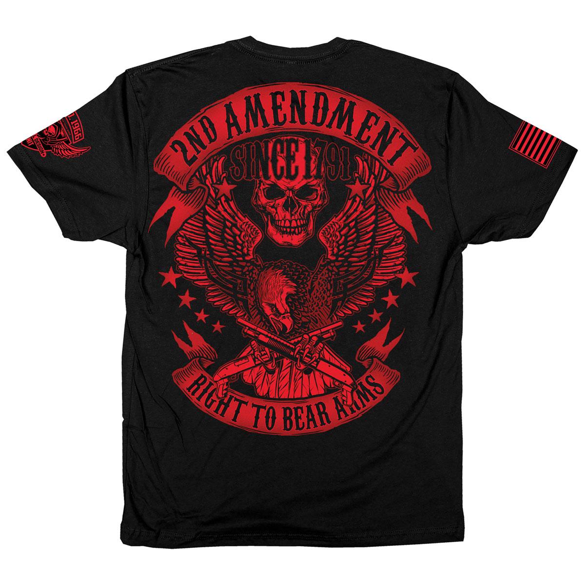 Iron Reaper Men's Red Eagle Black T-Shirt