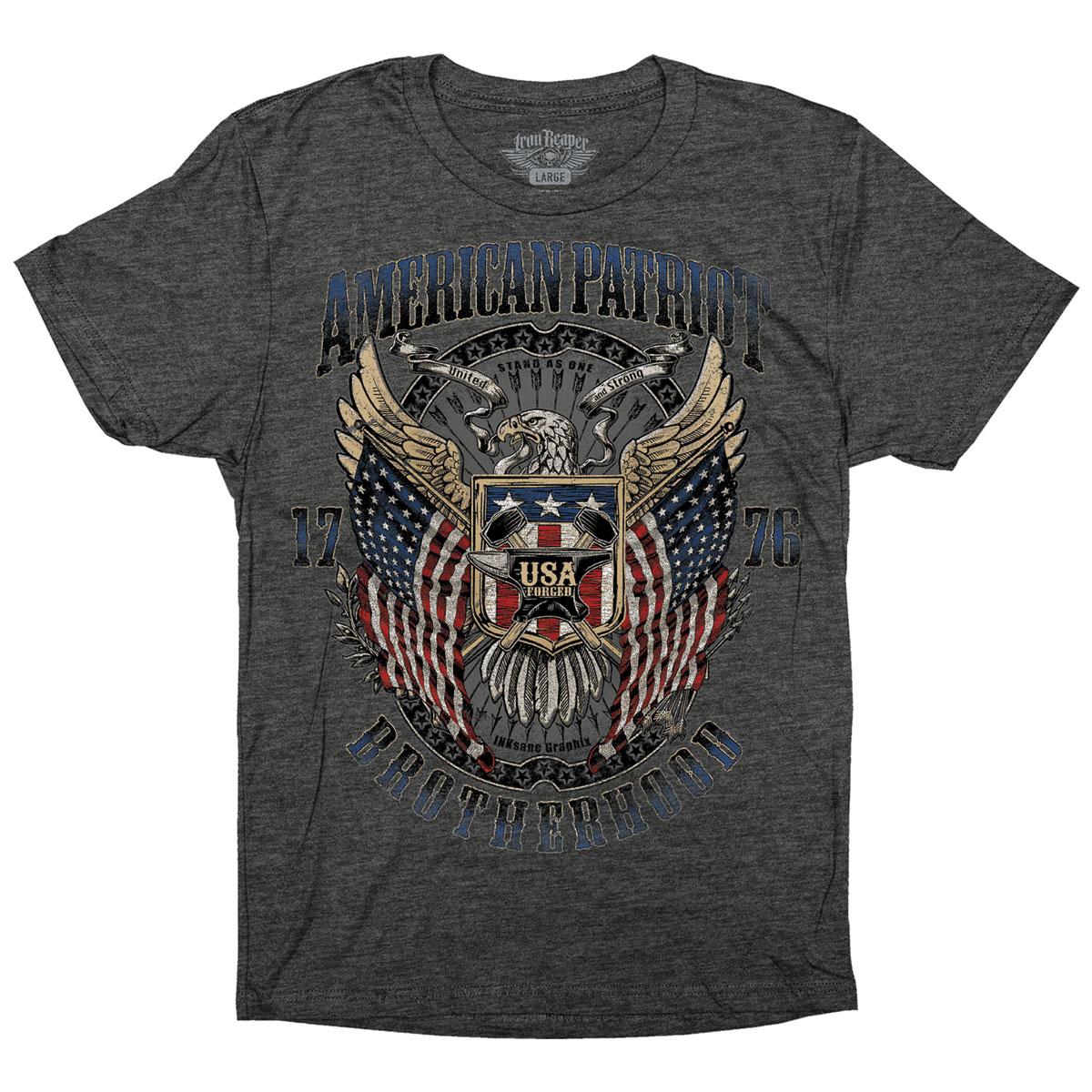 Iron Reaper Men's American Patriot Charcoal Heather T-Shirt