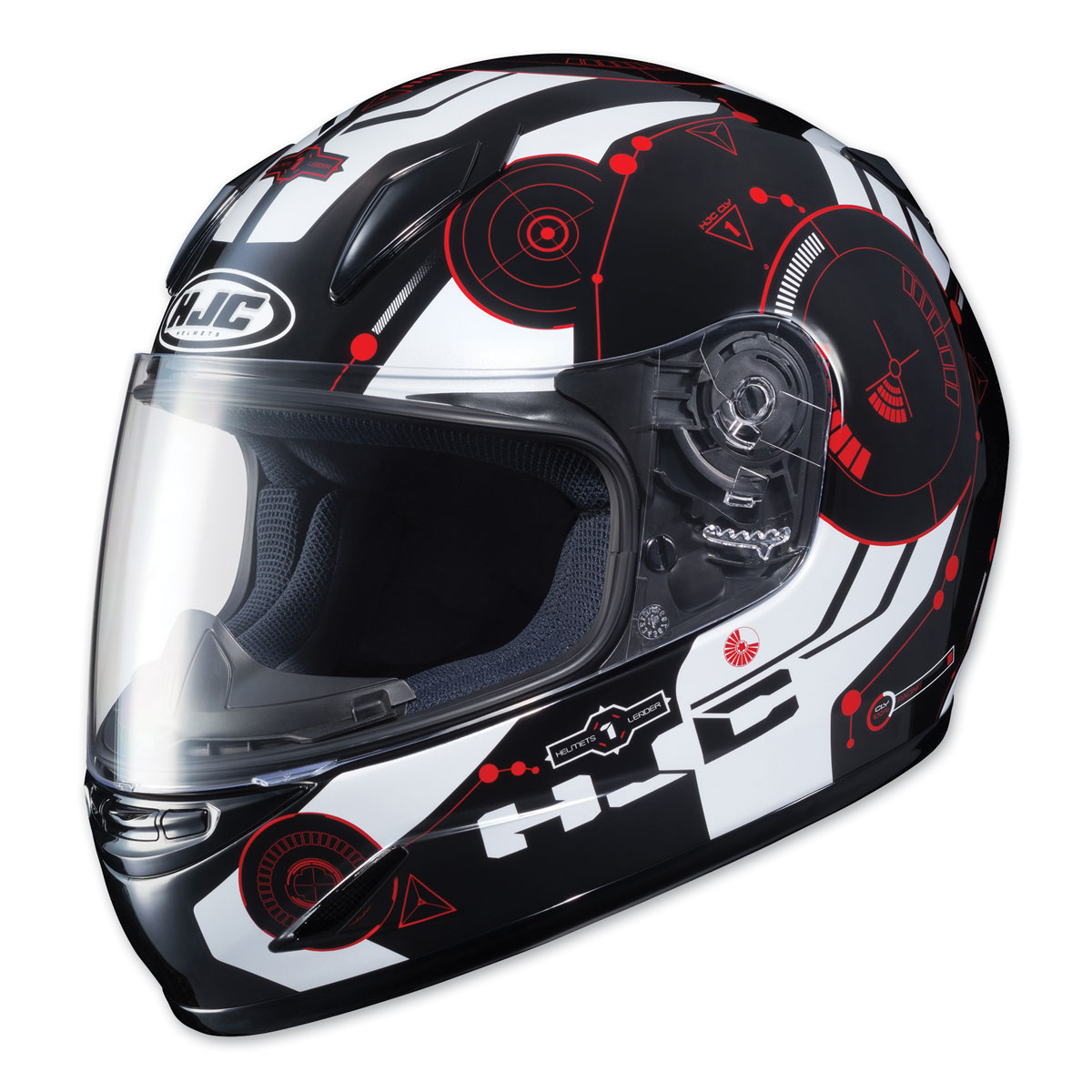 HJC CL-Y Youth Simitic Red/White Full Face Helmet