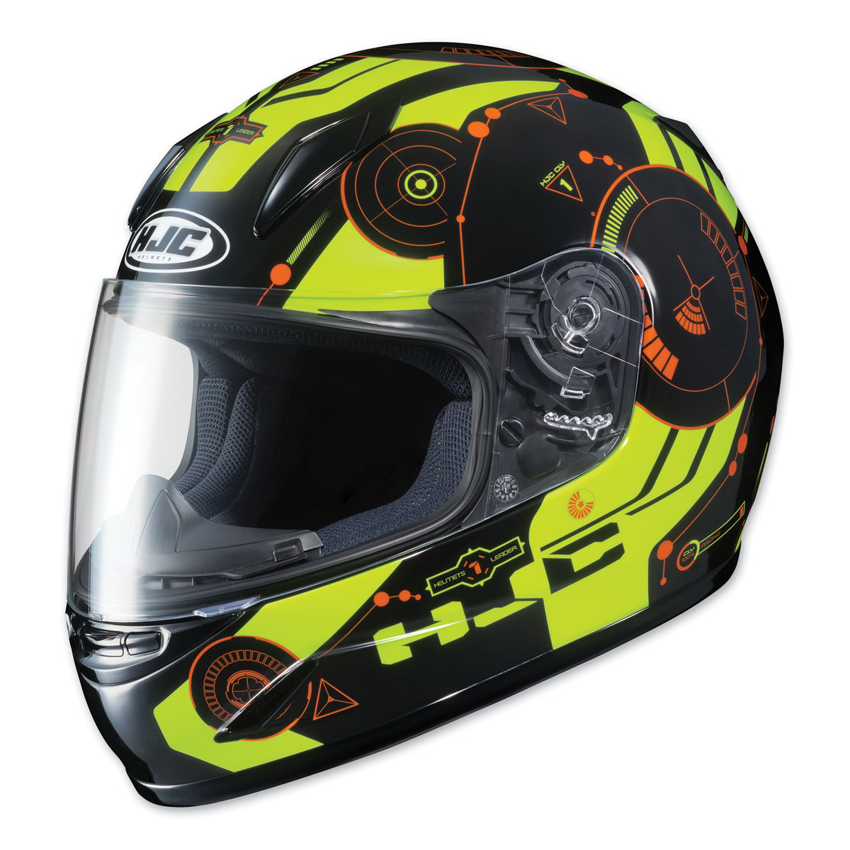 HJC CL-Y Youth Simitic Black/Hi-Viz Full Face Helmet
