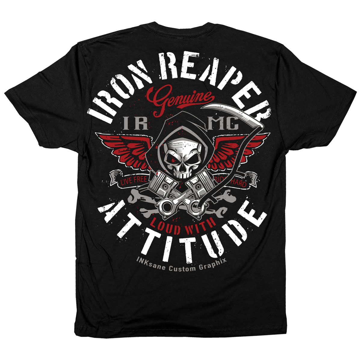 Iron Reaper Men's Attitude Black T-Shirt