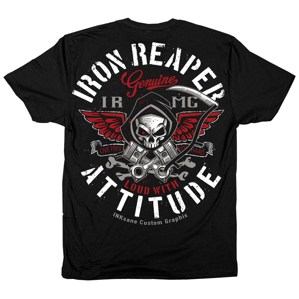 Iron Reaper Men's Attitude Black T-Shirt