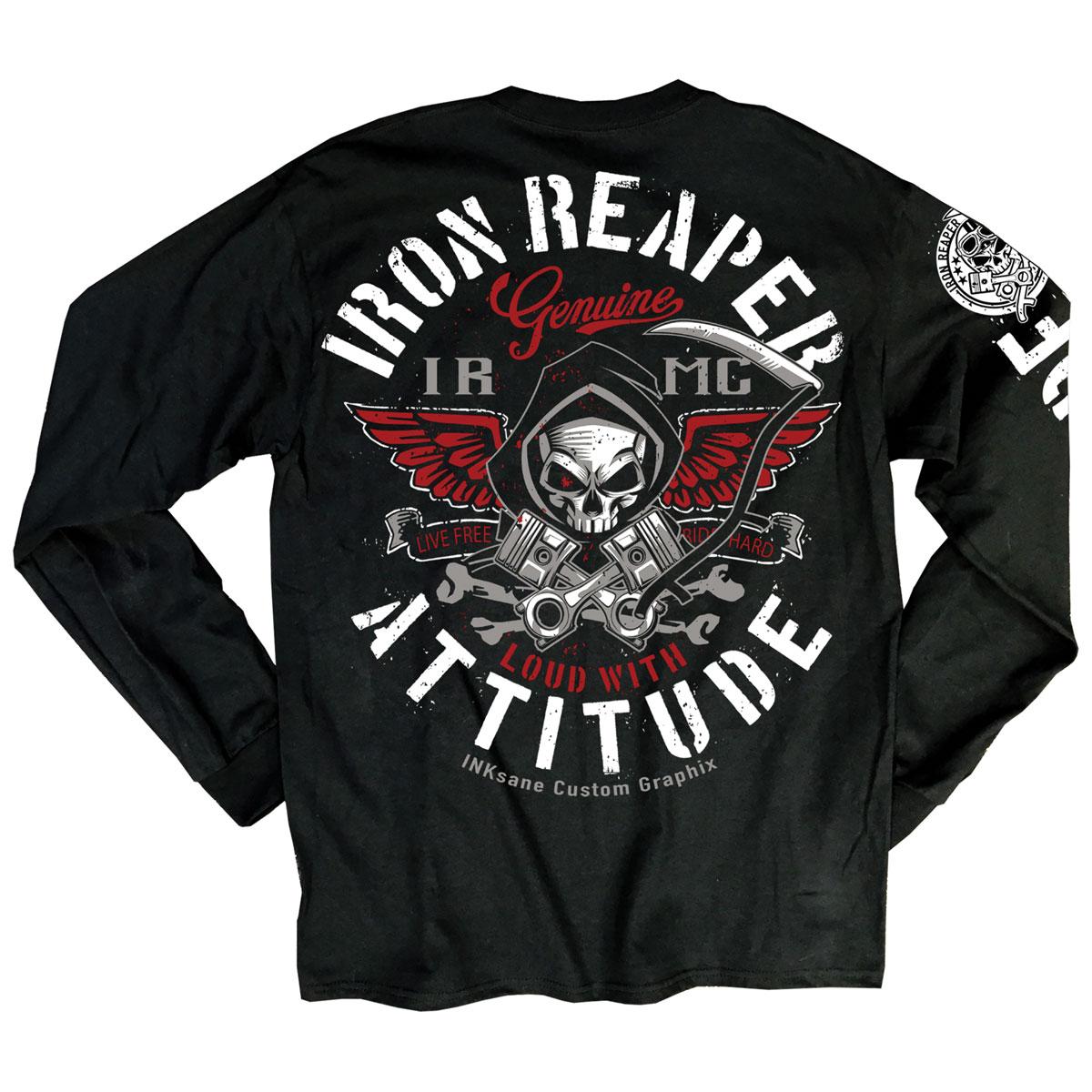 Iron Reaper Men's Attitude Black Long-Sleeve T-Shirt