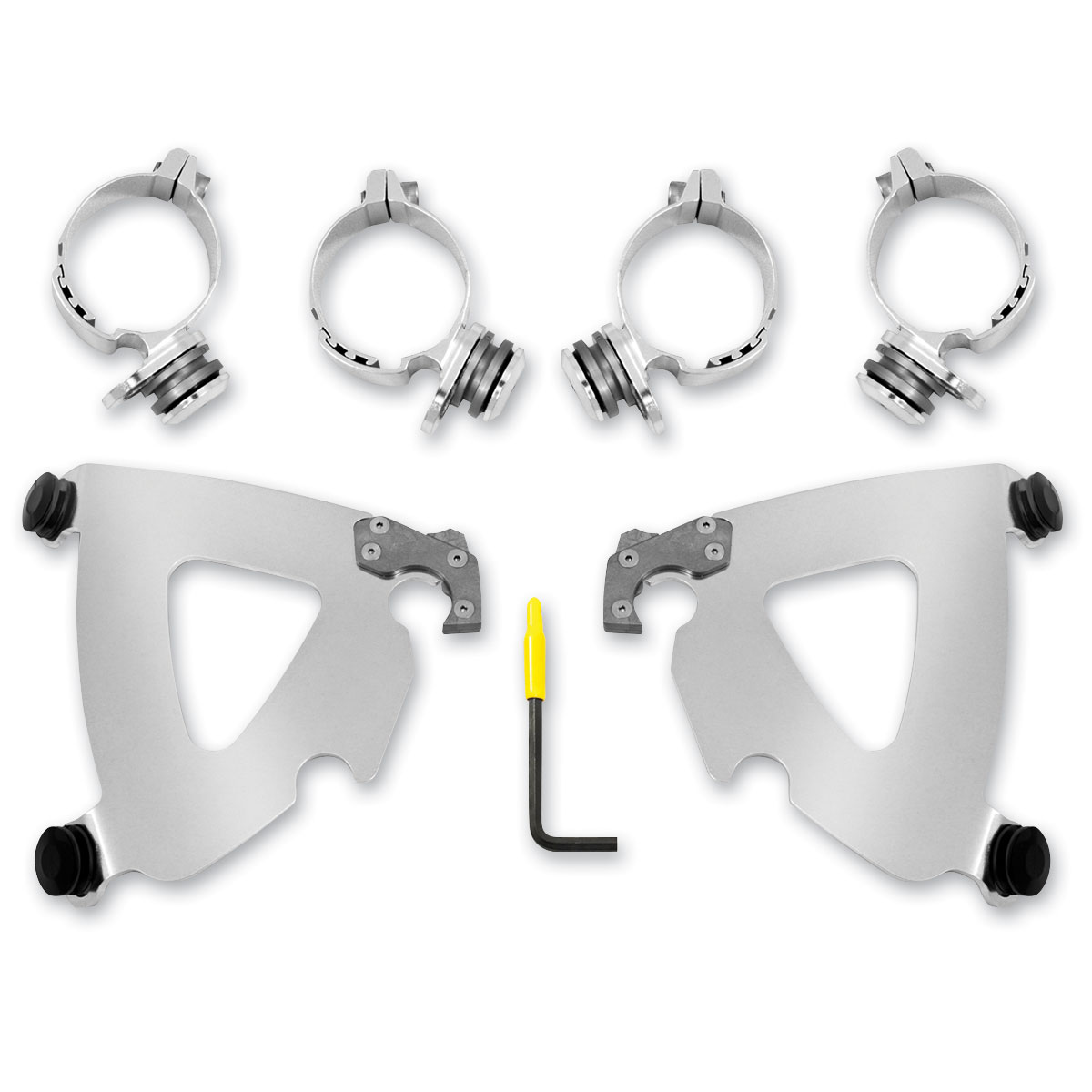 Memphis Shades Road Warrior Fairing Polished Trigger Lock Mount Kit