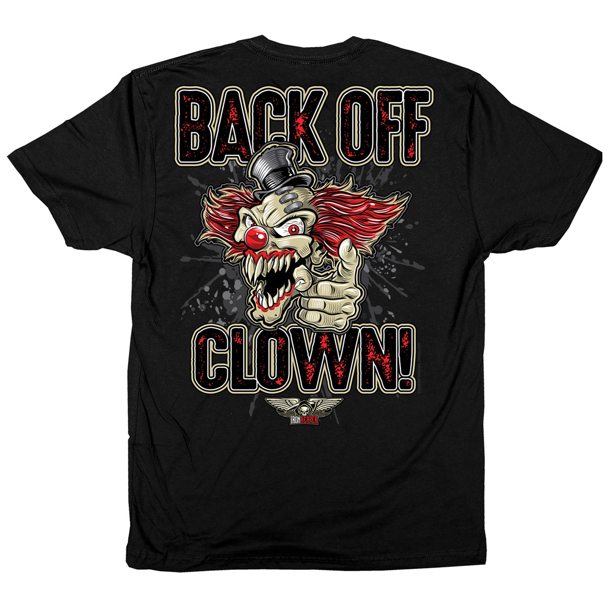 Iron Reaper Men's Back Off Black T-Shirt