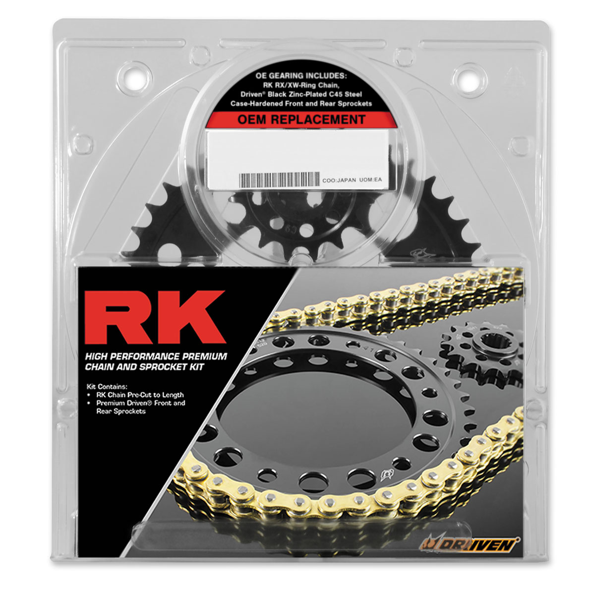 RK Chains 520 O.E.M. Replacement Chain and Sprocket Kit