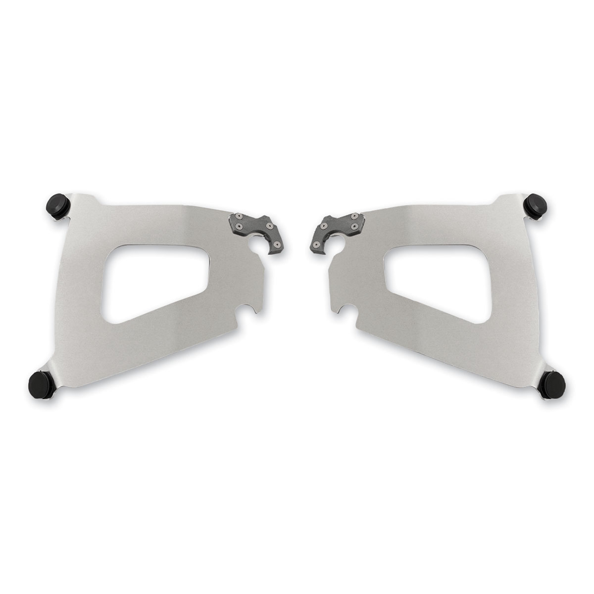 Memphis Shades Bullet Fairing Polished Mounting Plates Only