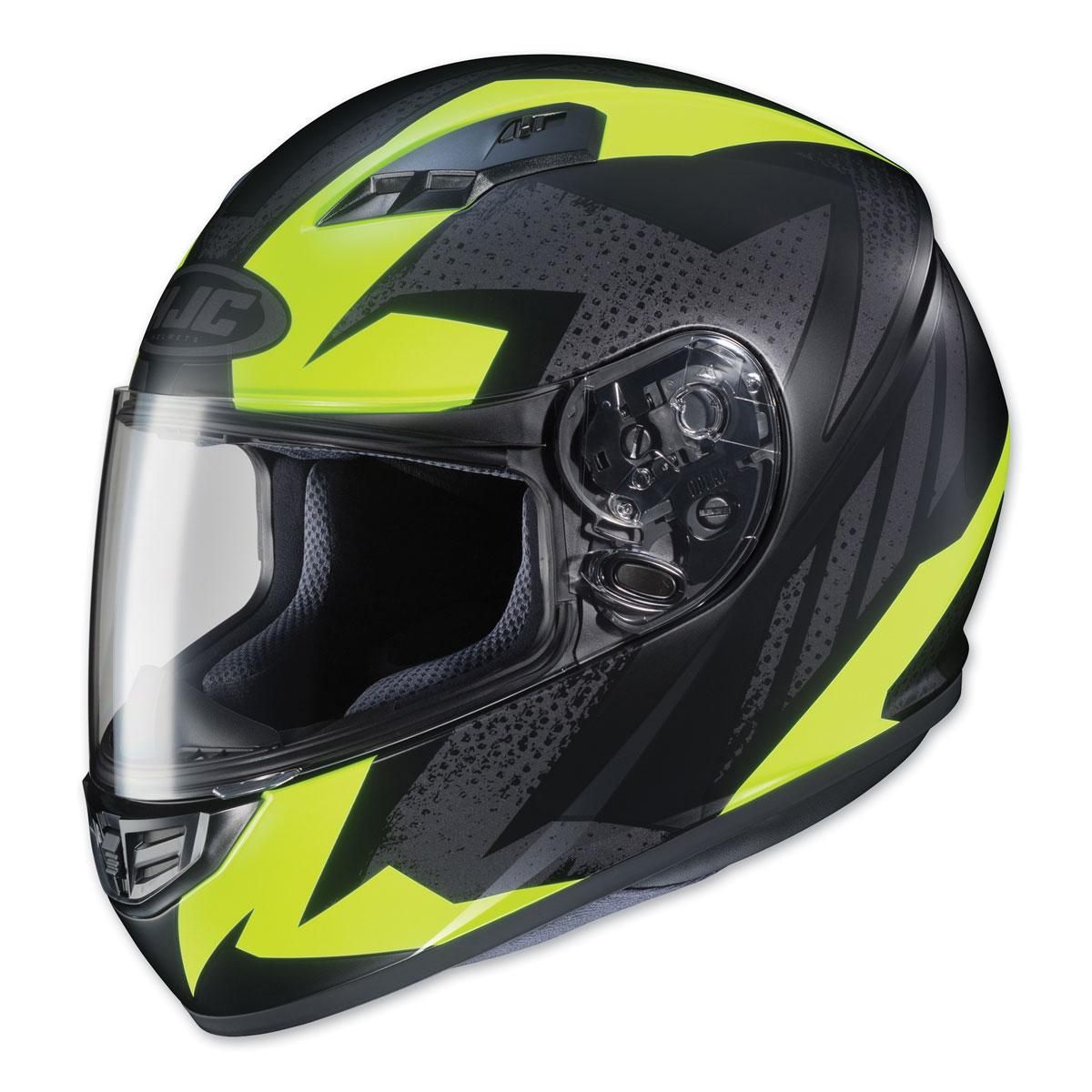 HJC CS-R3 Treague Hi-Viz/Gray Full Face Helmet