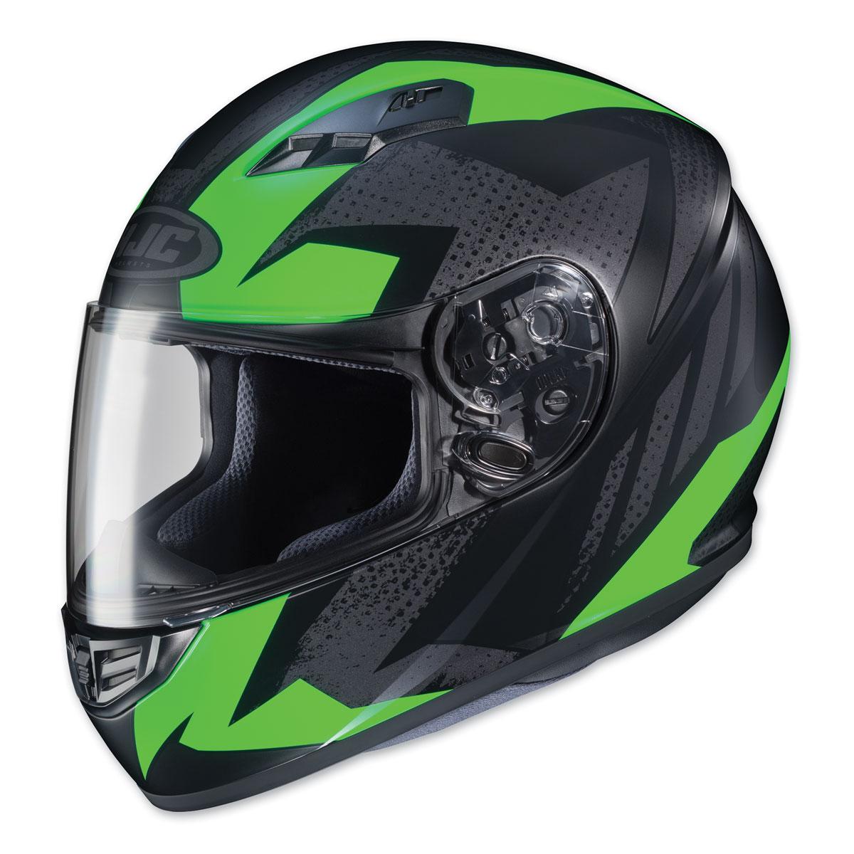 HJC CS-R3 Treague Neon Green/Gray Full Face Helmet