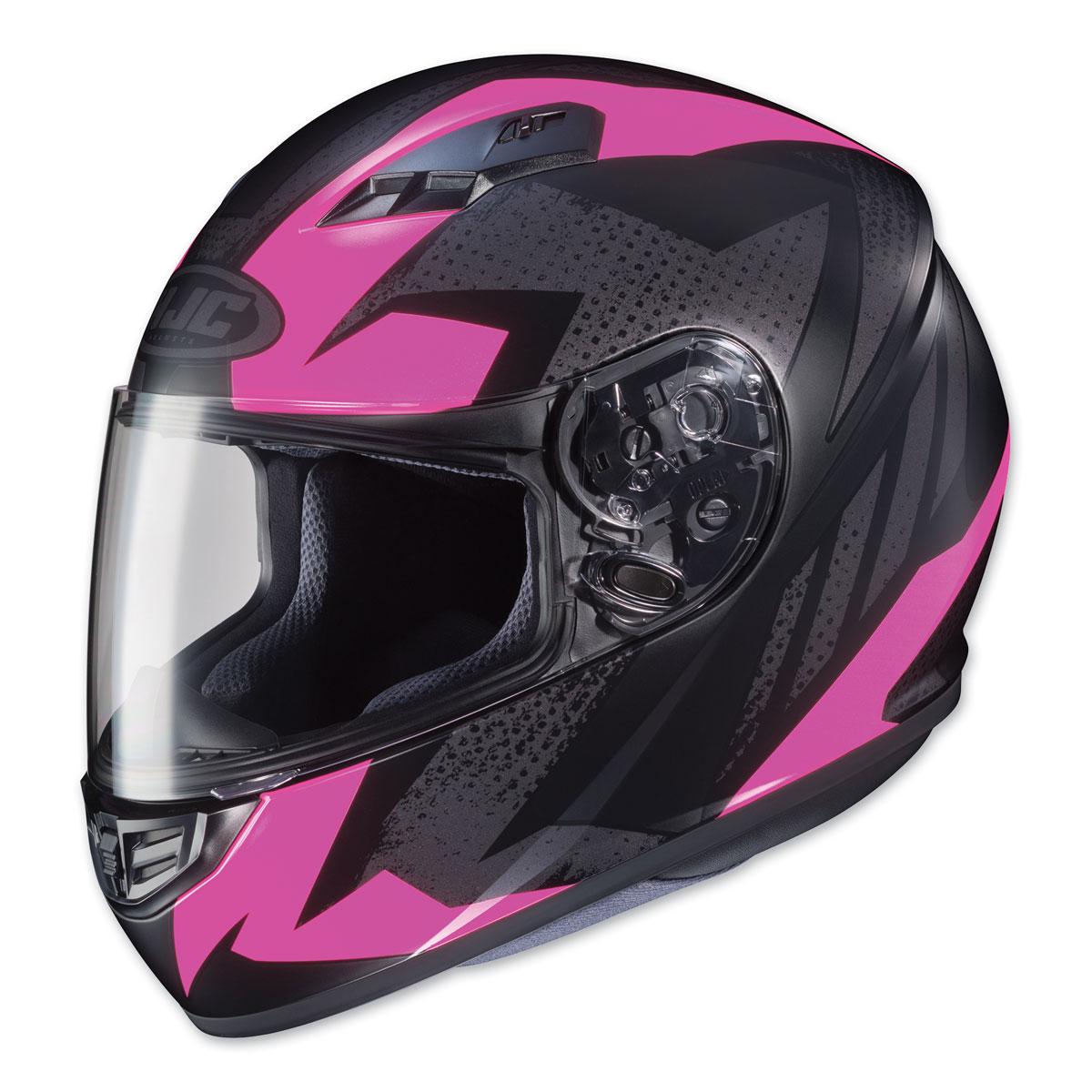 HJC CS-R3 Treague Pink/Gray Full Face Helmet