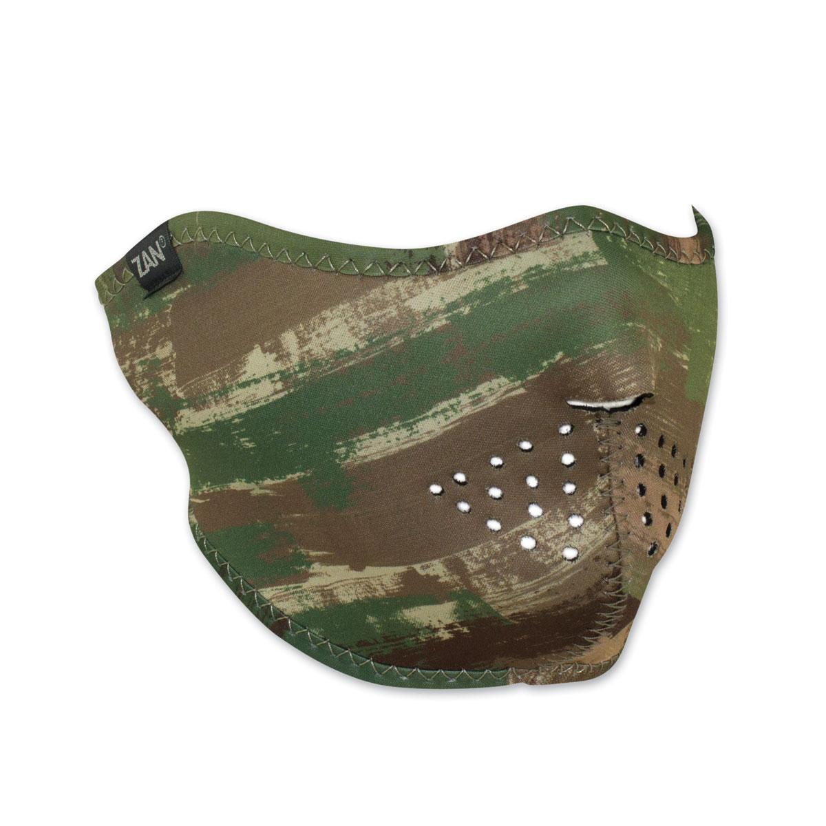ZAN headgear Neoprene Multi Brushed Camo Half Mask