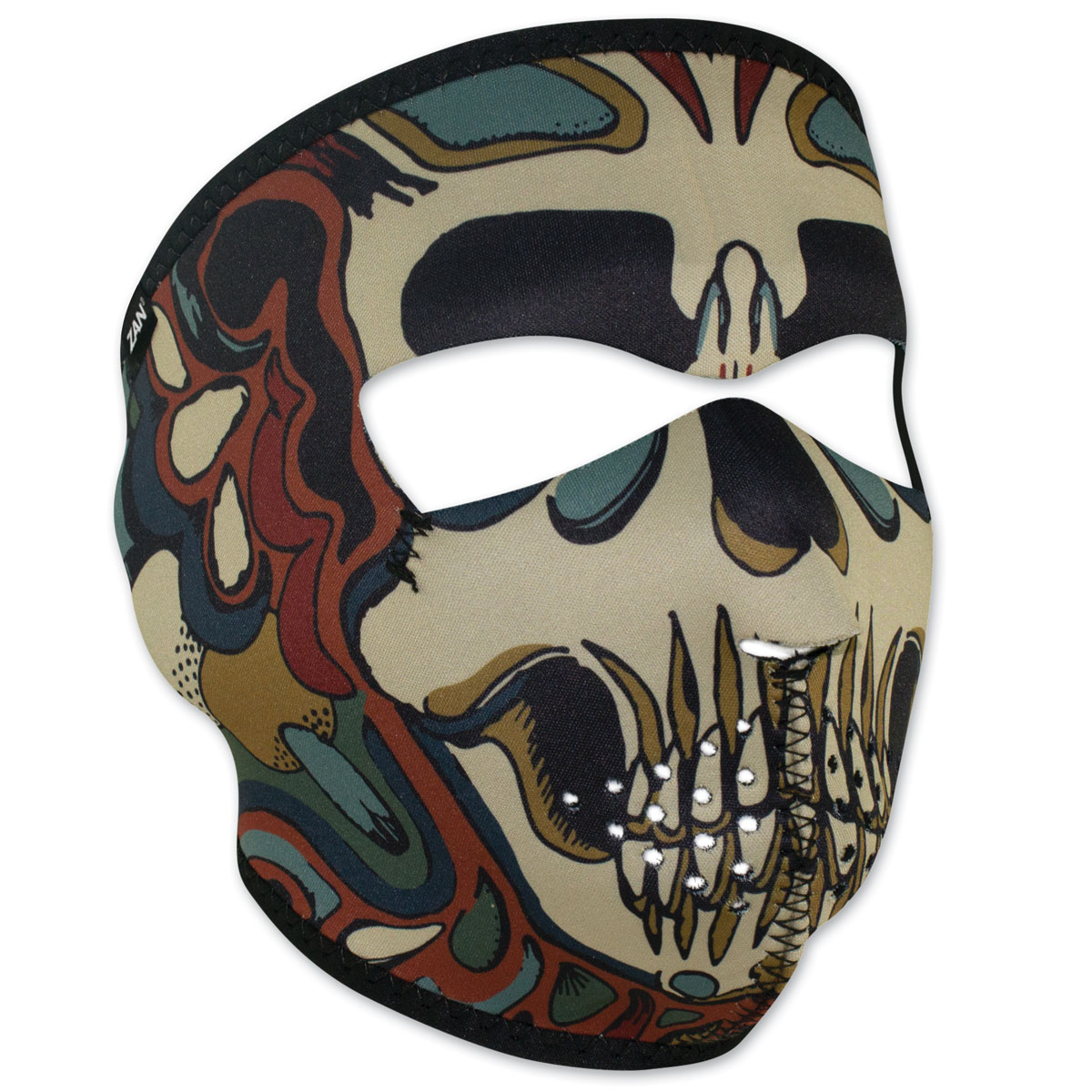 ZAN headgear Neoprene Psychedelic Skull Full Mask