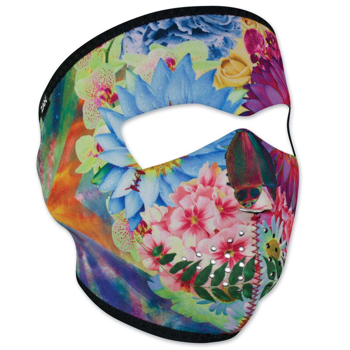 ZAN headgear Neoprene Flower Skull Full Mask