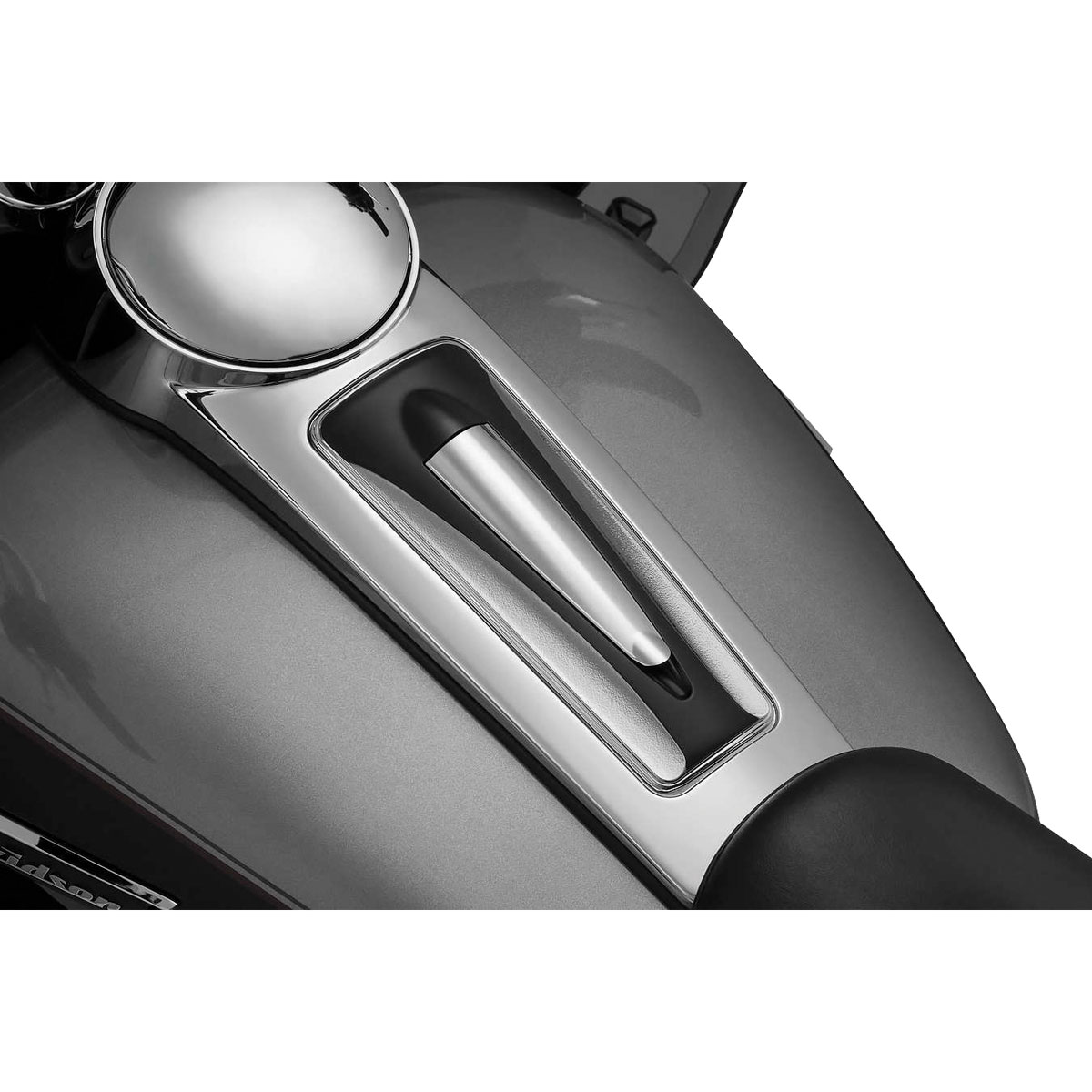 Kuryakyn Sculpted Dash Inserts Chrome & Black