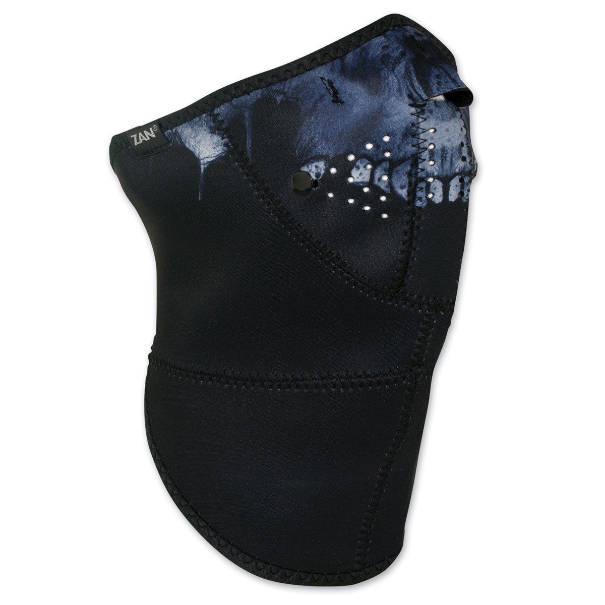 ZAN headgear 3 Panel Neo-X Midnight Skull Neoprene Mask