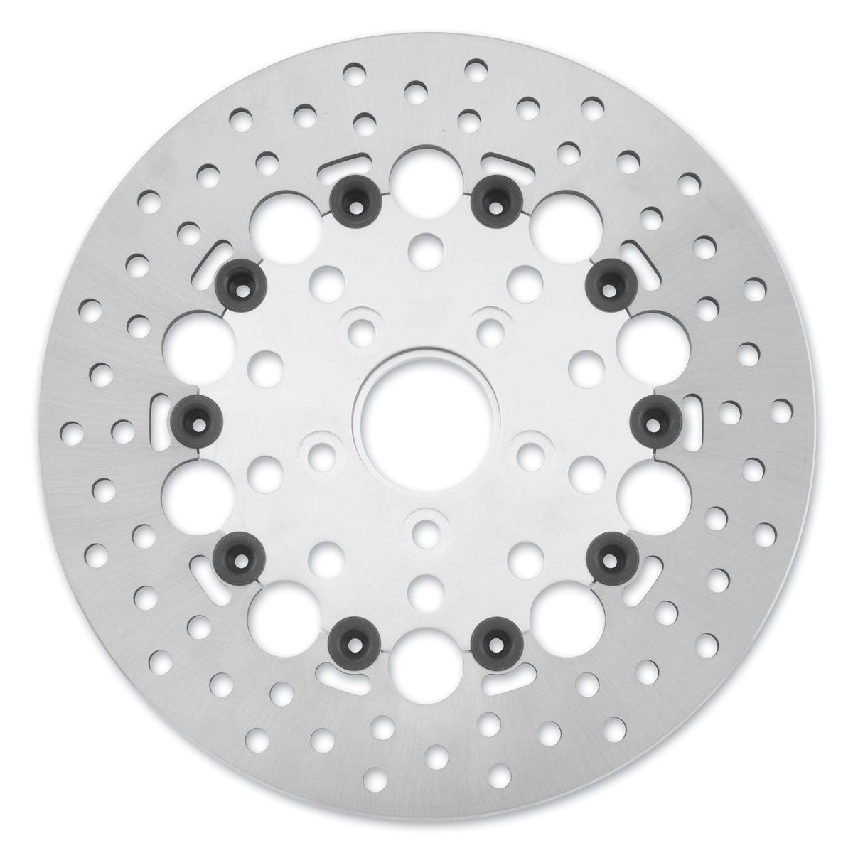 Twin Power Rear Silver Floating Round Hole Brake Rotors