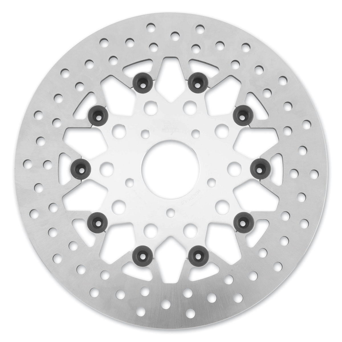 Twin Power Front Silver Floating Mesh Style Brake Rotor