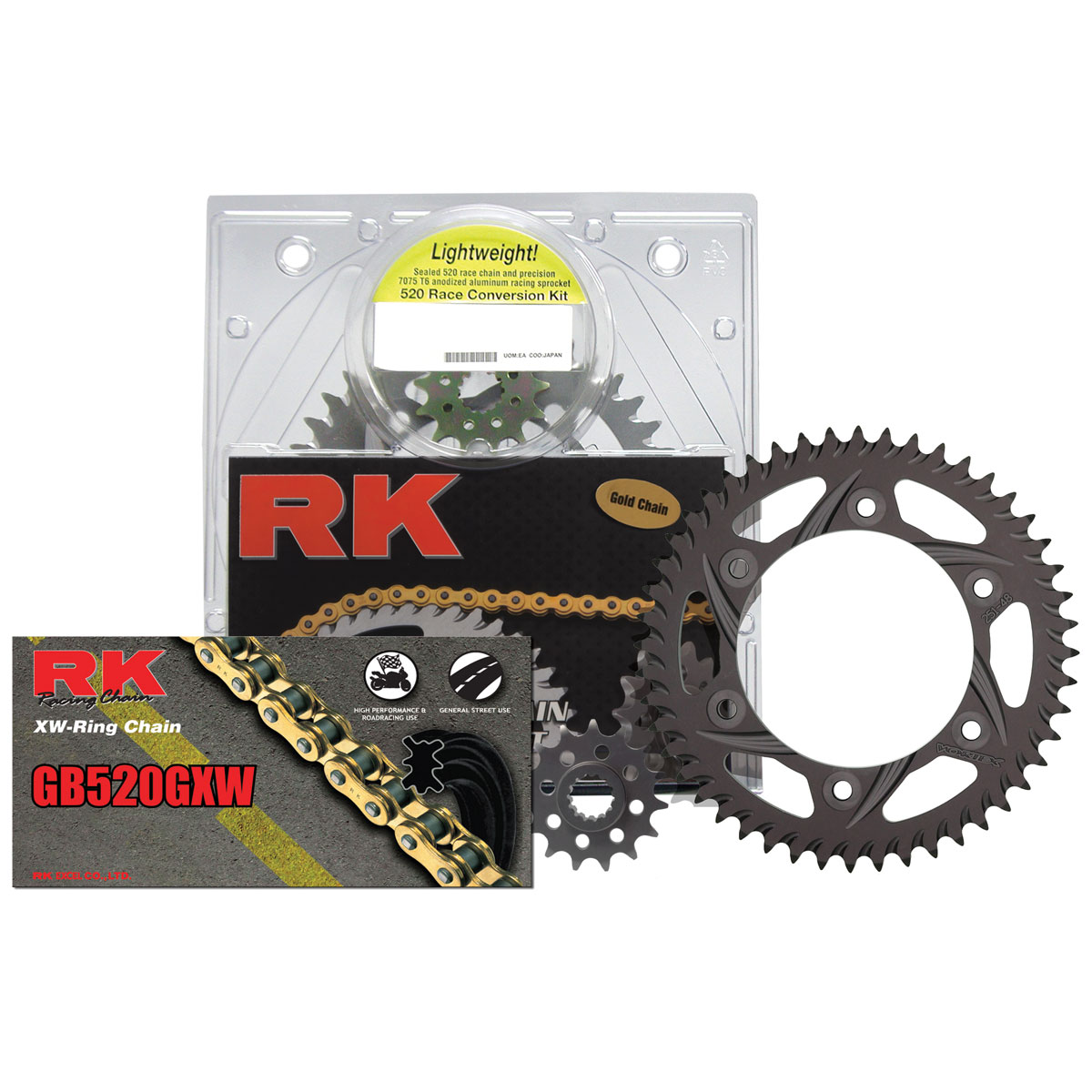 RK Chains 520 Aluminum Quick Acceleration Chain and Sprocket Kit