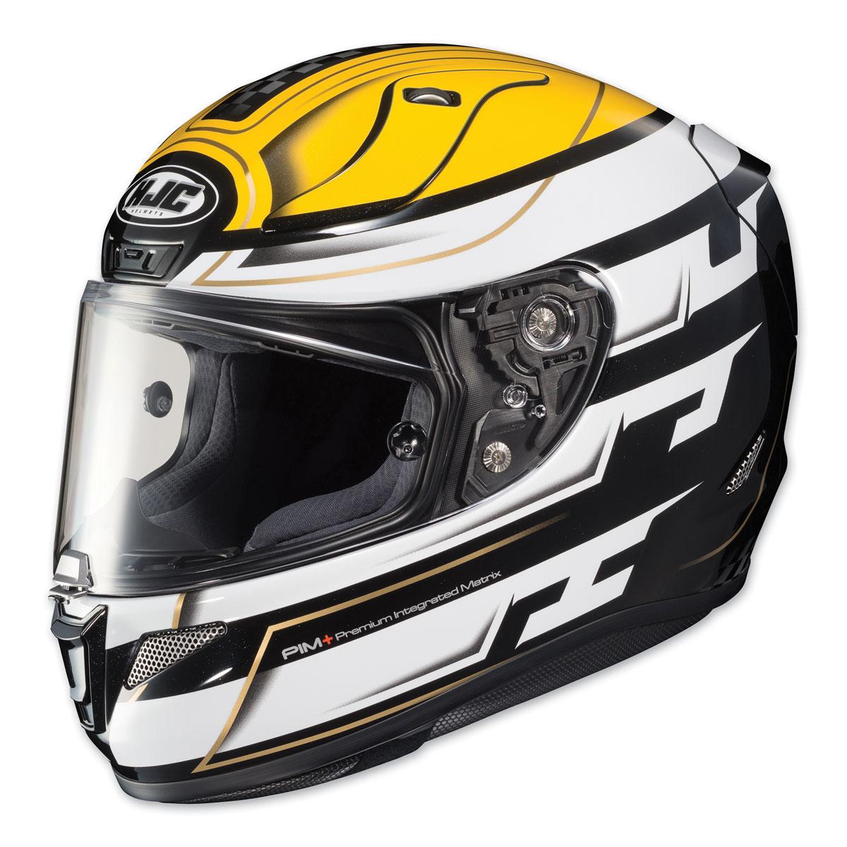 Hjc Rpha 11 >> Hjc Rpha 11 Pro Skyrym Yellow White Full Face Helmet 0803 1103 04