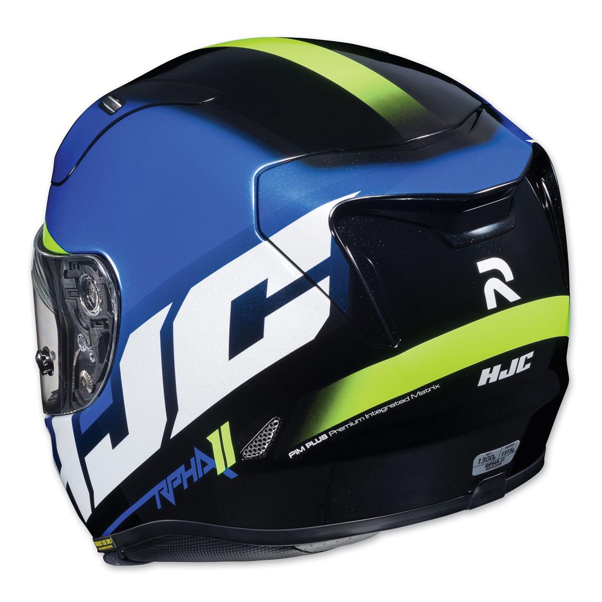 hjc rpha 11 pro spicho blue white full face helmet 160 1725 j p cycles. Black Bedroom Furniture Sets. Home Design Ideas