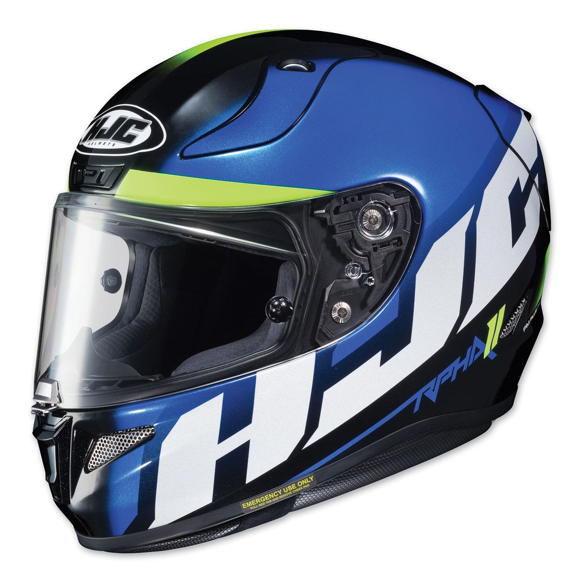 hjc rpha 11 pro spicho blue white full face helmet 160 1726 j p cycles