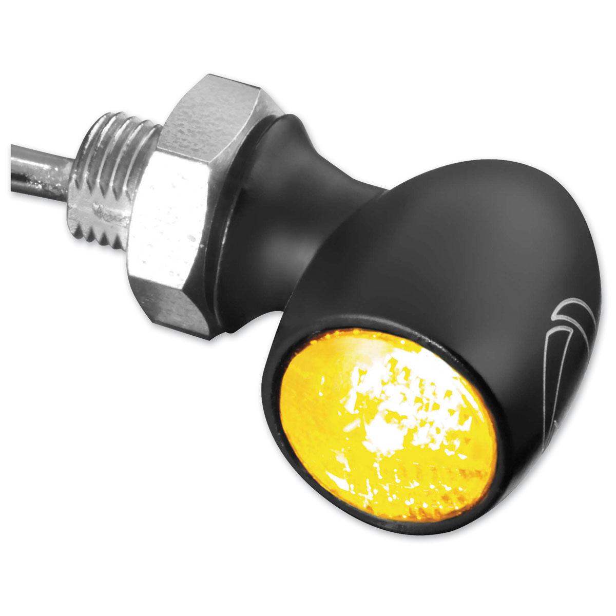 Kuryakyn by Kellermann Atto Satin Black Turn Signal with  Amber LED