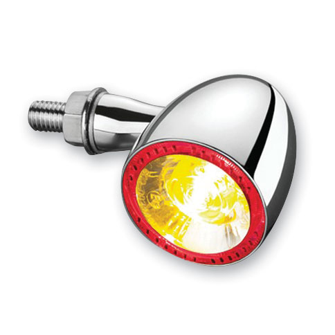 Kuryakyn by Kellermann Chrome Bullet 1000 Red/Red/Amber Turn Signal