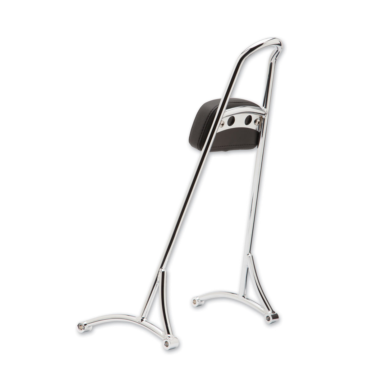 Burly Brand Chrome Tall Sissy Bar With Pad