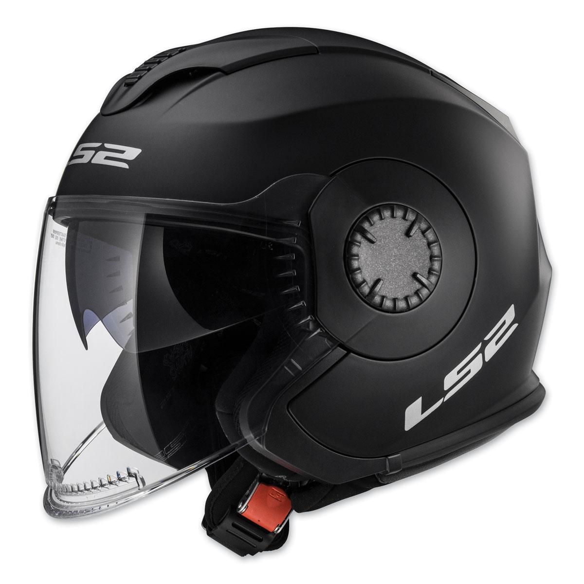 LS2 Verso Matte Black Open Face Helmet