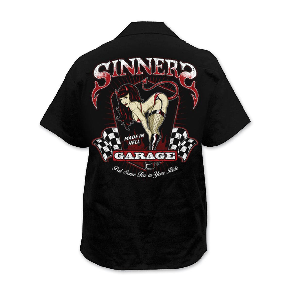 Lethal Threat Men's Sinners Garage Black Work Shirt
