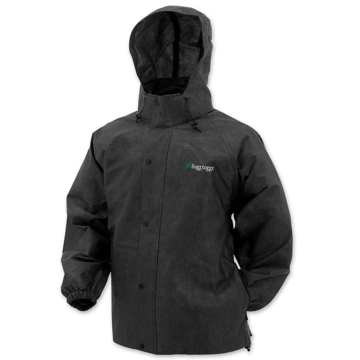 Frogg Toggs Men's Pro Action Black Rain Jacket