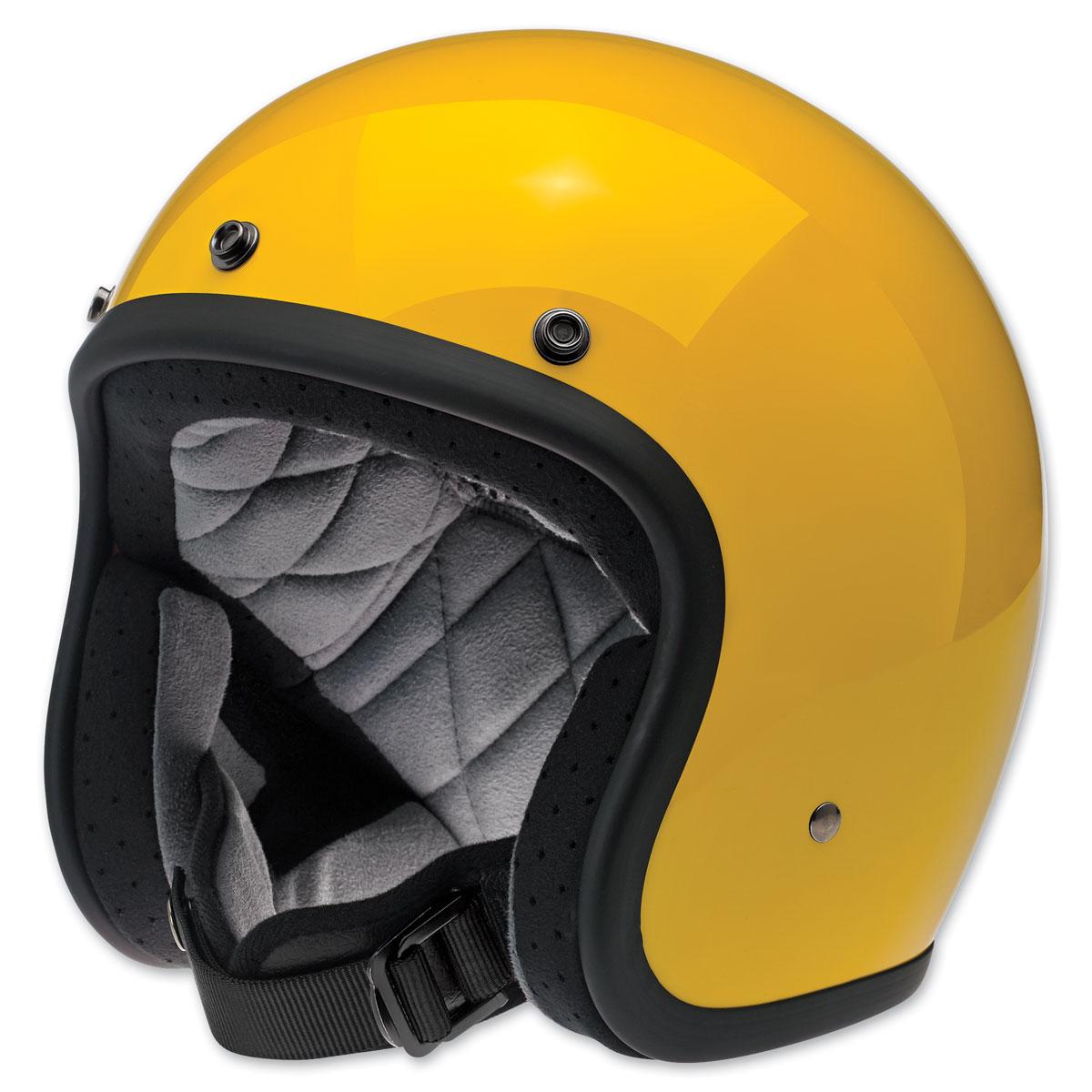 Biltwell Inc. Bonanza Safe-T Yellow Open Face Helmet