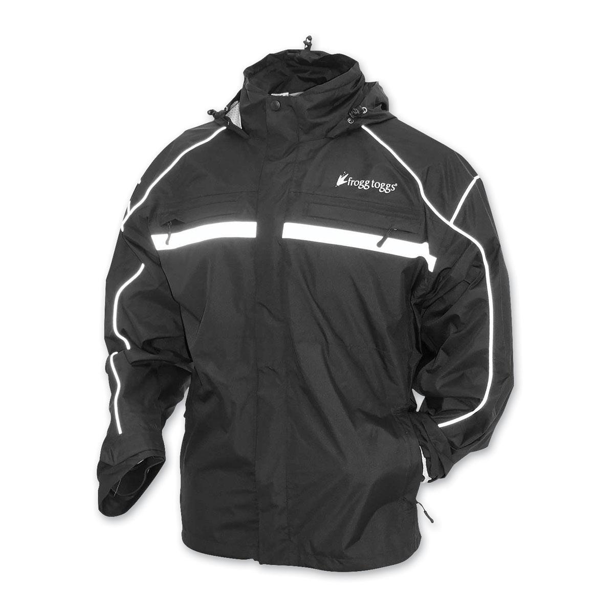 Frogg Toggs Men's Java 2.5 Illuminator Black Rain Jacket