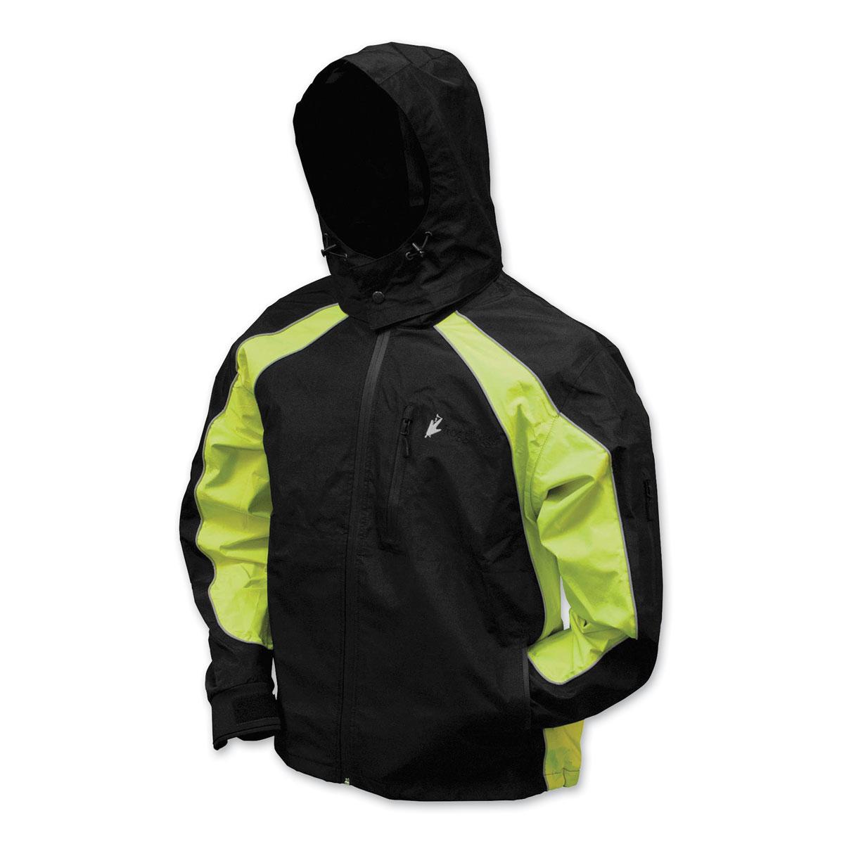 Frogg Toggs Men's Kikker II Black/Hi-Viz Rain Jacket
