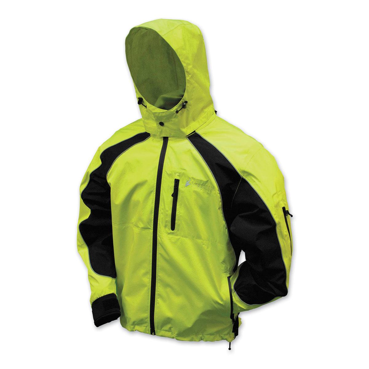 Frogg Toggs Men's Kikker II Hi-Viz/Black Rain Jacket