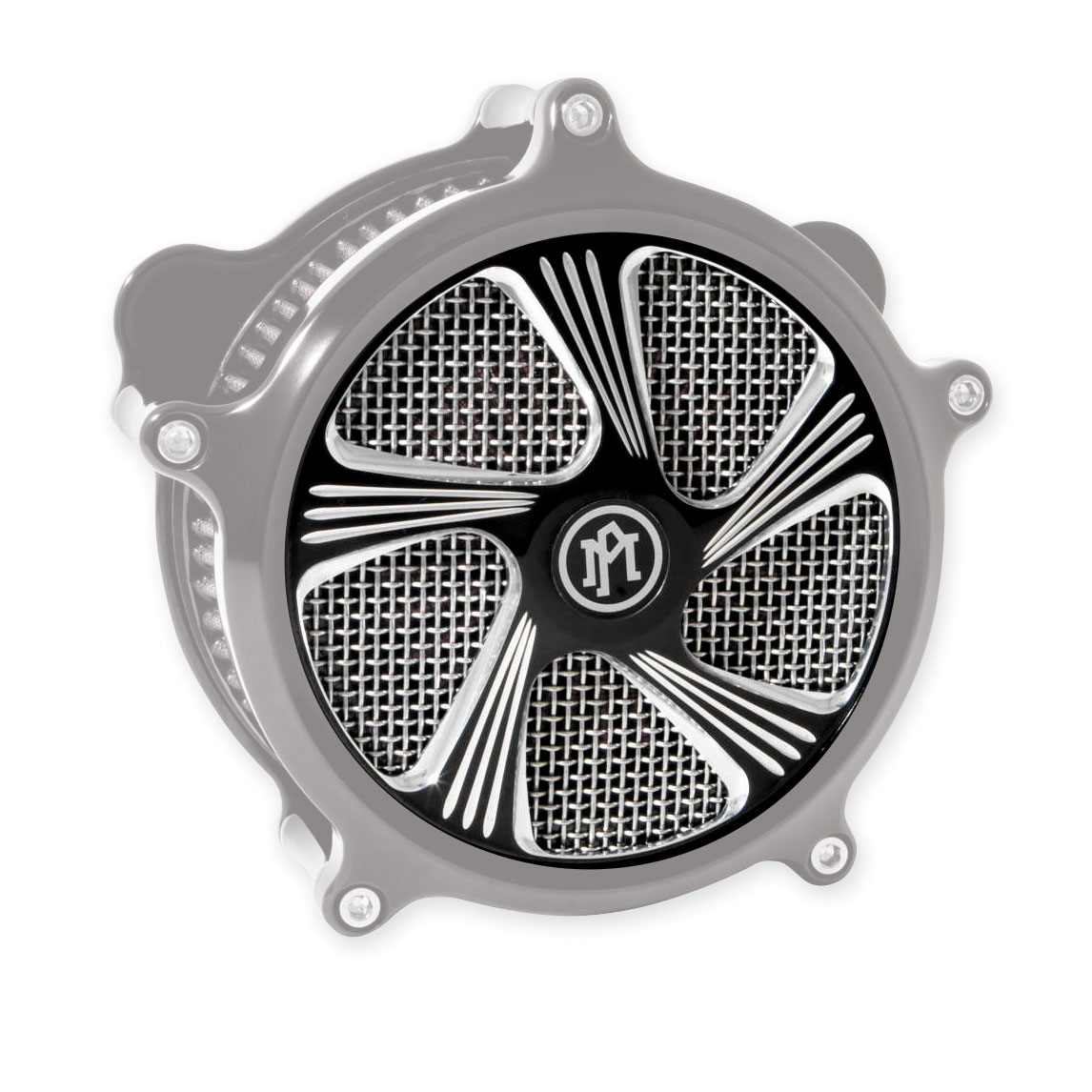 Performance Machine Element Faceplate for Super Gas Air Cleaner Contrast Cut