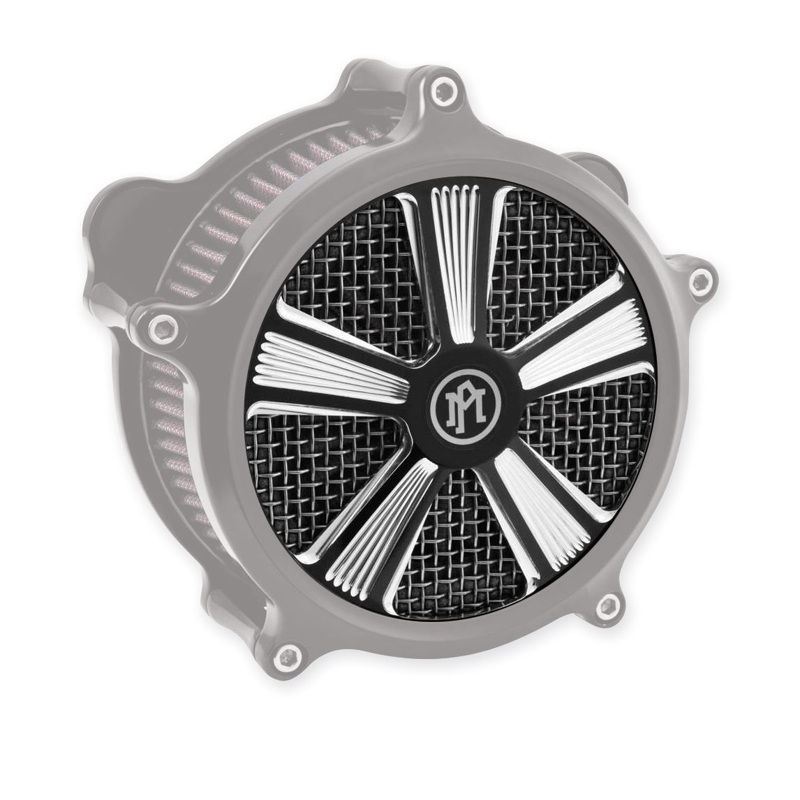Performance Machine Shock Faceplate for Super Gas Air Cleaner Contrast Cut