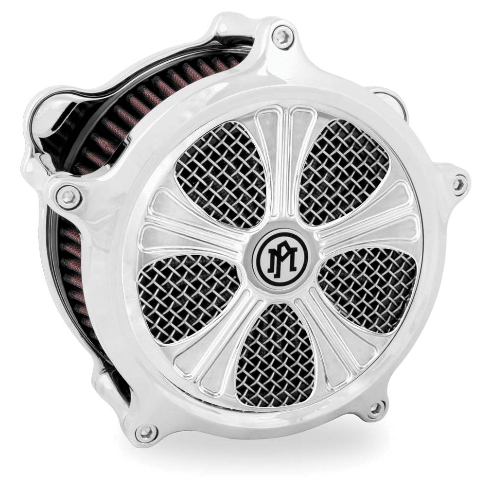 Performance Machine Syndicate Faceplate for Super Gas Air Cleaner Contrast Cut Platinum