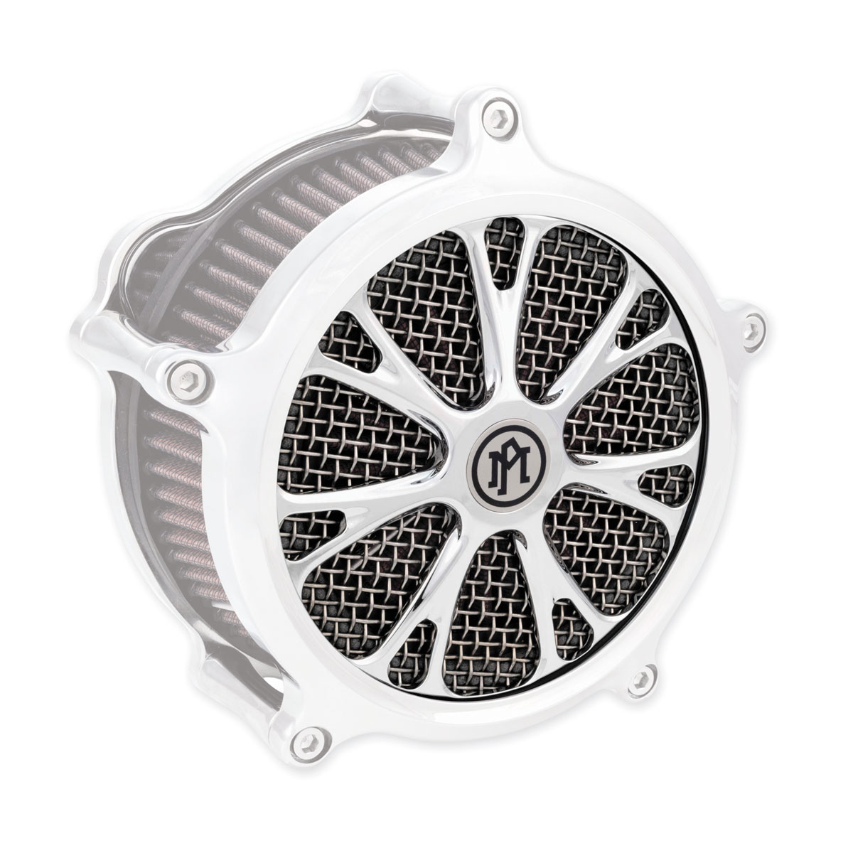Performance Machine Virtue Faceplate for Super Gas Air Cleaner Chrome