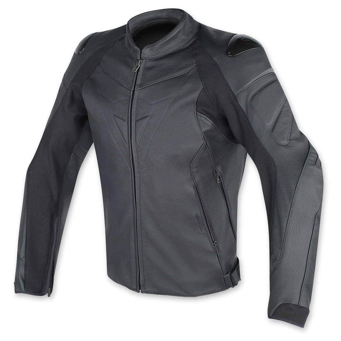 Dainese Men's Perforated Fighter Black Leather Jacket