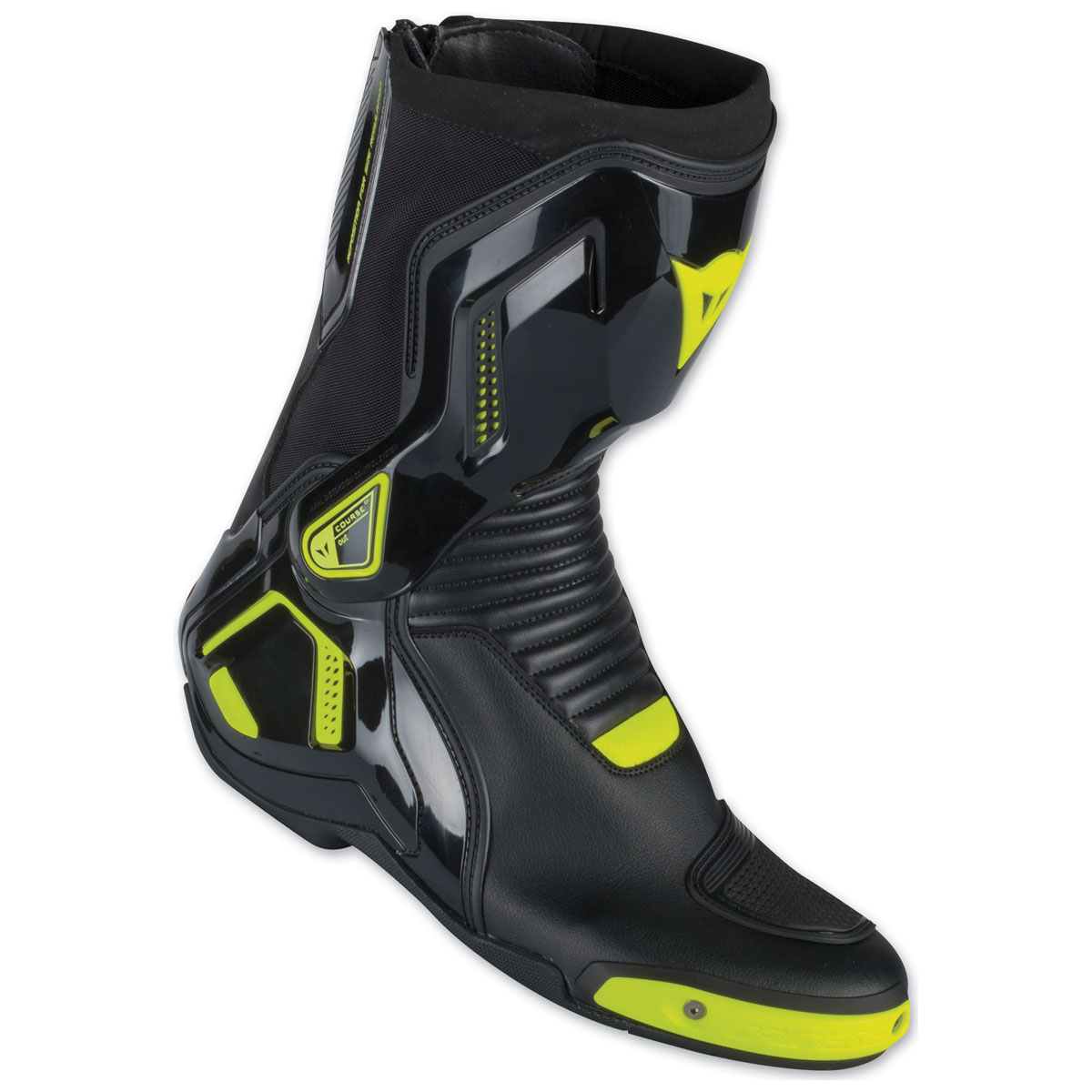 Dainese Course D1 Out Black/Fluo Yellow Boots