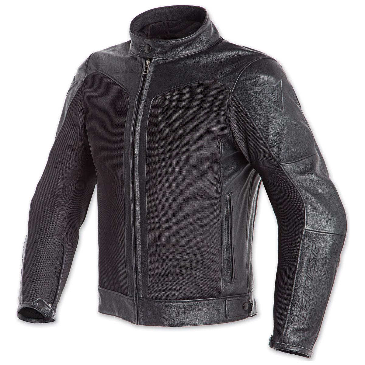 Dainese Men's Corbin D-Dry Black Leather Jacket