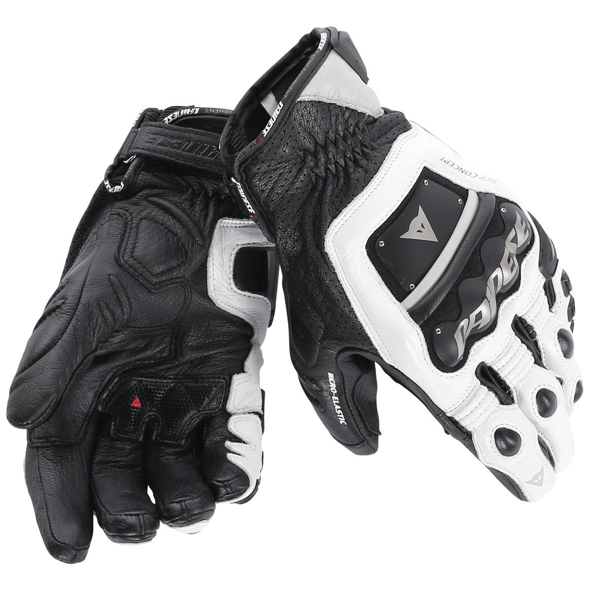 Dainese Men's 4 Stroke Evo White/Black Gloves